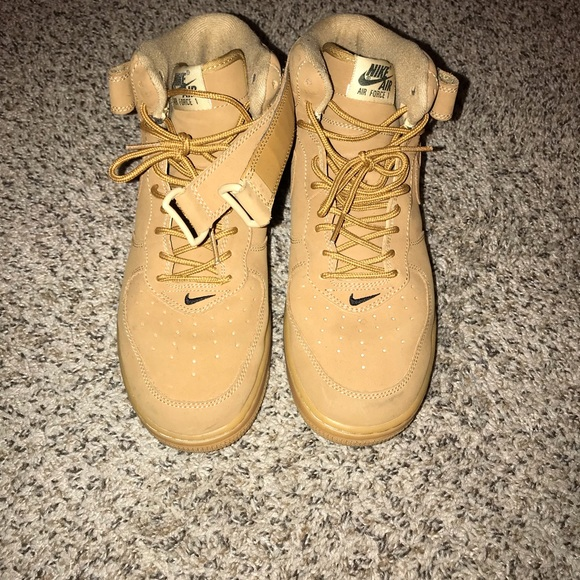 """new styles 2f71d 6b500 Nike Air Force 1 mid '07 """"wheat"""" sneakers"""